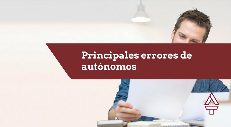 Errores de autonomos