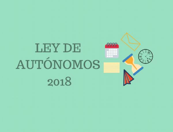 LEY DE AUTONOMOS 2018